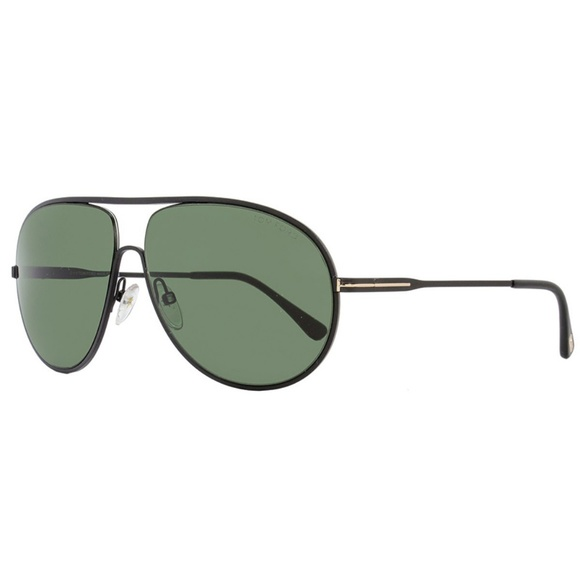 8a4c6c47c6468 Tom Ford Cliff Sunglasses Matte Black w Green Lens